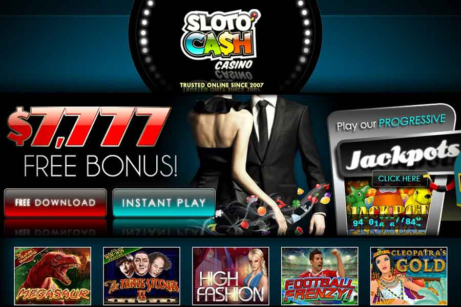 casino welcome bonus slotocash